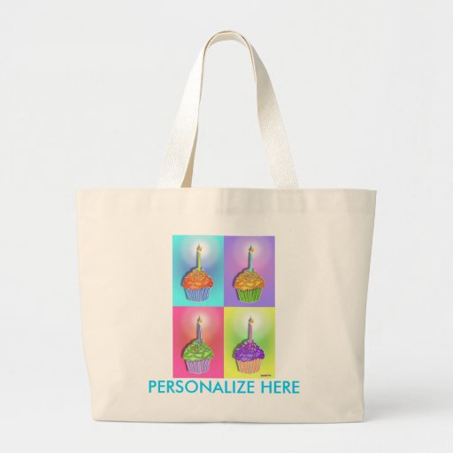 Grocery Totes - Birthday Cupcakes Tote Bag