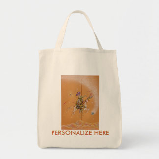 Grocery Totes - Carousel Jester Grocery Tote Bag