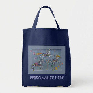 Grocery Totes - Carousel Opus One Tote Bag