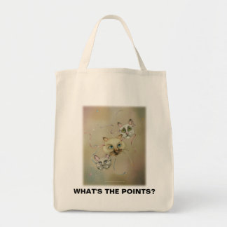 Grocery Totes - What'sThePoints Canvas Bag