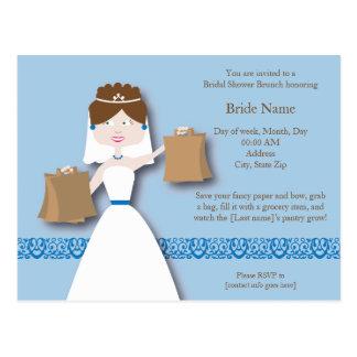 Grocery Wedding Shower Invite Postcard