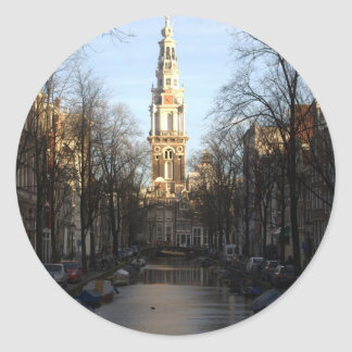 Groenburgwal, Amsterdam Classic Round Sticker