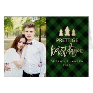 Groene Plaid | Kerstkaart Card