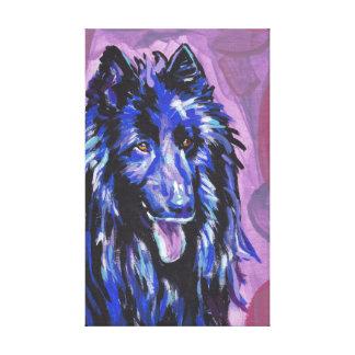 Groenendael Bright Colorful Pop Dog Art Canvas Print