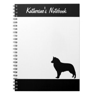 Groenendael dog custom name notebook