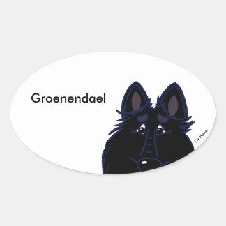 Groenendael head oval sticker