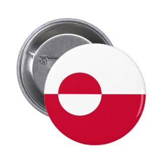 Groenlandia - bandera groenlandesa pin redondo 5 cm