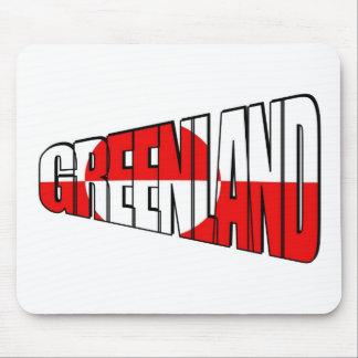 Groenlandia con la bandera de GL Tapete De Ratones