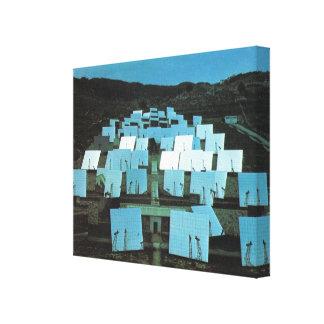 Groenlandia, helióstatos móviles lienzo envuelto para galerias