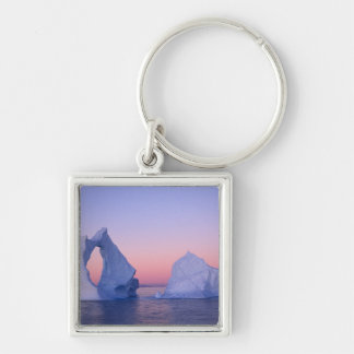 Groenlandia iceberg en la puesta del sol llaveros personalizados