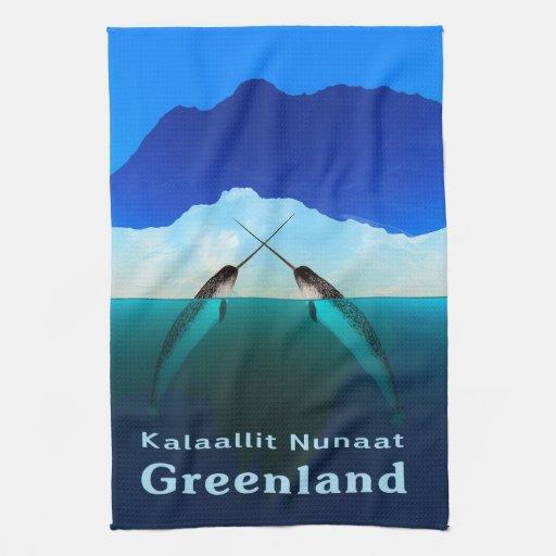 Groenlandia - Narwhal Toalla De Cocina