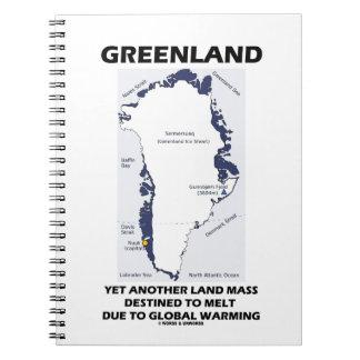 Groenlandia otra más masa de la tierra destinada libro de apuntes
