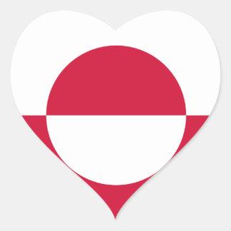 Groenlandia Pegatina En Forma De Corazón