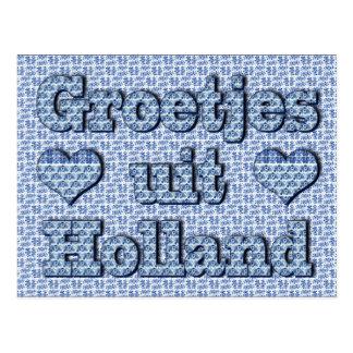 Groetjes uit Holland - delfts blauw Postcard