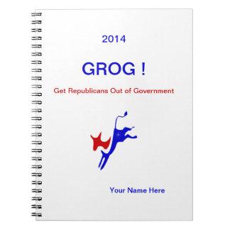 ¡GROG 2016! ¡Notebook.Personalize él! Libros De Apuntes