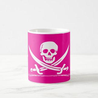grog del pirata en diseño rosado taza