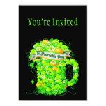 Grog del trébol del día de St Patrick Invitación 12,7 X 17,8 Cm