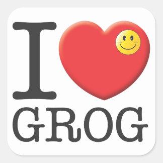 Grog Square Sticker