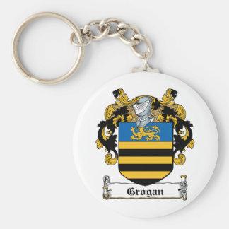 Grogan Family Crest Basic Round Button Keychain
