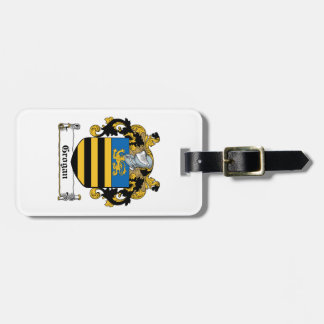 Grogan Family Crest Tag For Luggage