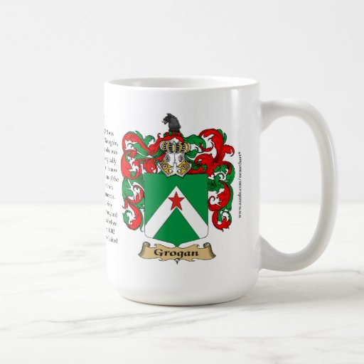 Grogan, the Origin, the Meaning and the Crest Classic White Coffee Mug