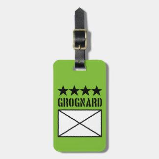 Grognard de cuatro estrellas etiquetas para maletas