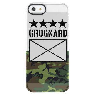 Grognard de cuatro estrellas funda clear para iPhone SE/5/5s