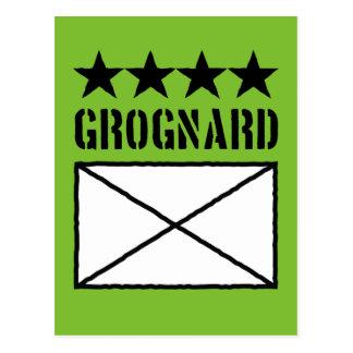 Grognard de cuatro estrellas postal