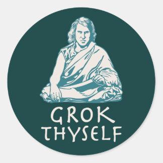 Grok Yourself Round Stickers