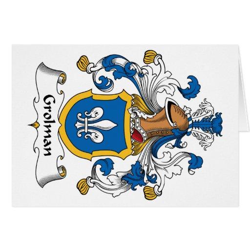 Grolman Family Crest Greeting Card