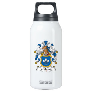 Grolman Family Crest 10 Oz Insulated SIGG Thermos Water Bottle