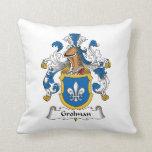 Grolman Family Crest Throw Pillow