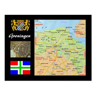 Groninga el mapa holandés tarjeta postal