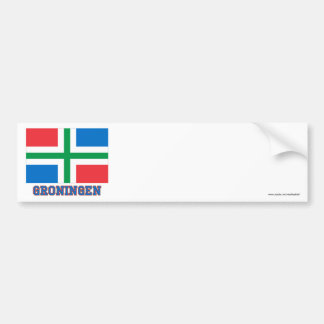 Groningen Flag with name Bumper Stickers