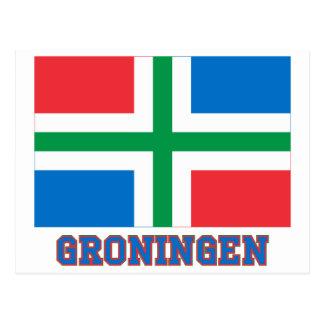 Groningen Flag with name Postcard