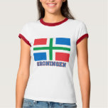 Groningen Flag with name T-Shirt