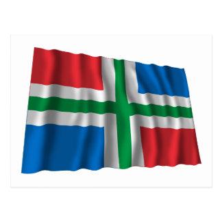Groningen Waving Flag Postcard
