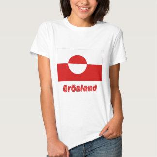 Grönland Flagge mit Namen Shirt