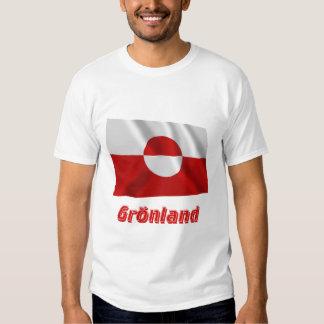 Grönland Fliegende Flagge mit Namen Tee Shirt