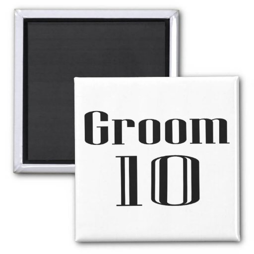Groom 10 2 inch square magnet