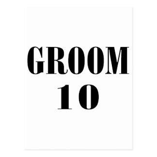 Groom 10 Black Post Cards