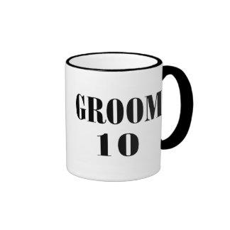 Groom 10 Black Ringer Coffee Mug