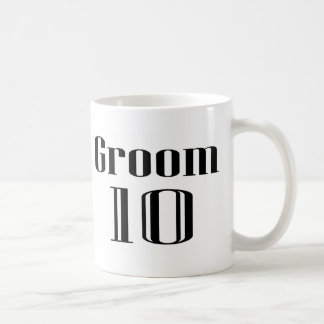 Groom 10 classic white coffee mug