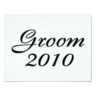 Groom 2010 card