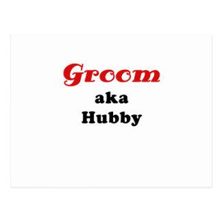 Groom aka Hubby Postcard
