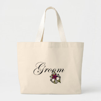 Groom Anchor Large Tote Bag