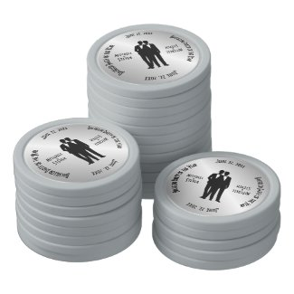 Groom and Groom Bachelor Party Poker Chips