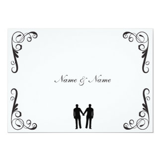 Groom and Groom Gay Wedding Invitation