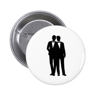 Groom and Groom Wedding Pinback Button