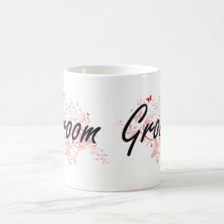 Groom Artistic Job Design with Butterflies Coffee Mug